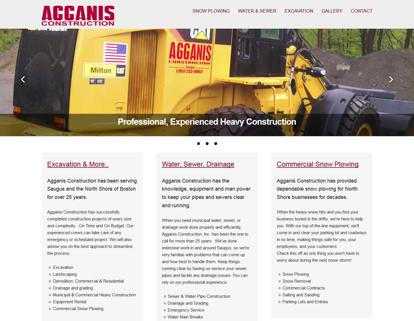 AGGANIS CONSTRUCTION