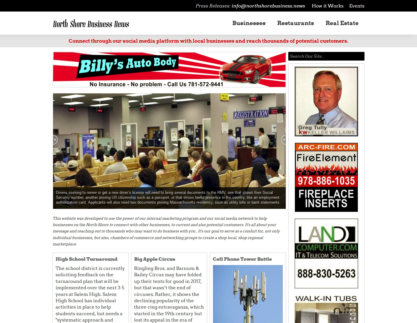 NORTH SHORE BUSINESS NEWS